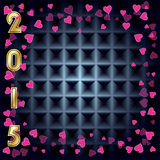 New Year 2015 background. With hearts vector illustration
