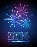 New year 2014 background. New year holiday firework background Stock Photography