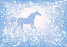 New Year background with horse Stock Photos
