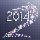 New Year background 2014. Horse in the form of mosaics Stock Image