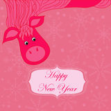 New year background with hourse Royalty Free Stock Image