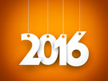 New year - 2016 - background. New year - illustration for 2016 year Royalty Free Stock Photography