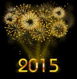 New Year 2015 background. Illustration of firework with text 2015 Royalty Free Stock Photography