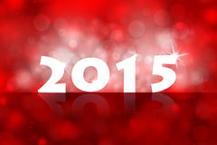 New year 2015 background. Illustration with red back light and place for your text Stock Photo