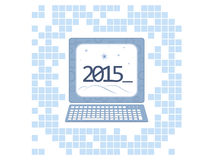 New year 2015 background Stock Images