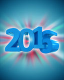 2016 new year background. With light effect Stock Images
