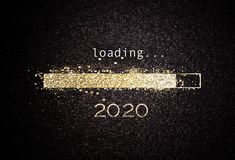 2020 New year background with loading bar royalty free illustration