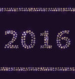 New Year Background Made of Snowflakes Royalty Free Stock Photo