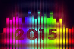 New Year background. With music equalizer Stock Photo