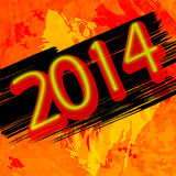 New year 2014 background Stock Photos