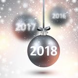 2018 New Year background. Stock Images