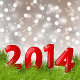 New Year background. With 2014 numbers Stock Photo