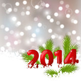 New Year background. With 2014 numbers Royalty Free Stock Images