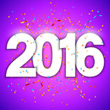 New Year Background. 2016 new year background with numbers and confetti Stock Photos