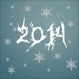 New Year. Background with the numbers of the new year and snowflakes Stock Image