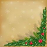 New Year Background With Old Paper. Vector Royalty Free Stock Image