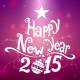 New Year Background. Pink New Year Background 2015 Stock Photography