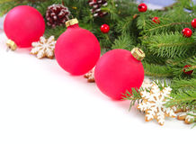 New year background with red balls Royalty Free Stock Images