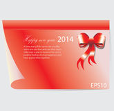 New Year 2014 background. Red note template for New Year card 2014 Royalty Free Stock Images