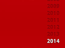New year 2014 background. New year 2014 on red background, three-dimensional rendering stock illustration