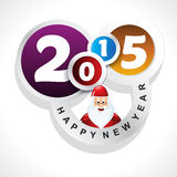 New year background with santa claus. Vector illustration stock illustration