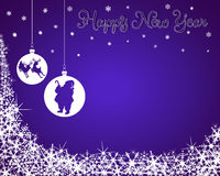 New Year Background with Santa & Reindeer Royalty Free Stock Photography