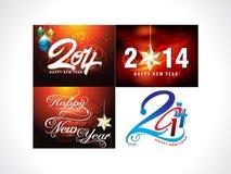 New Year Background Set. Vector illustration Stock Image