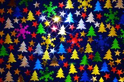 New Year 2016 Background. Shiny Applique of New Year 2016 Background maden from snowflakes Royalty Free Illustration