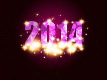 New Year background. With 2014 sign Stock Photography