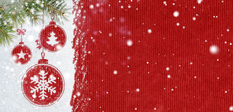 New year background on snow Royalty Free Stock Photography