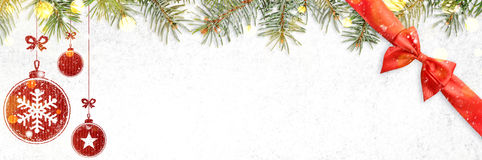New year background on snow Royalty Free Stock Image
