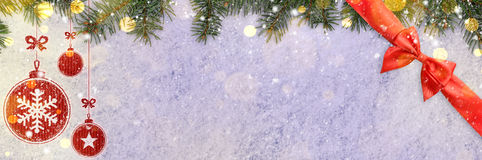 New year background on snow Stock Photography
