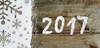 New year background on snow Royalty Free Stock Photo
