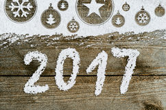 New year background on snow Royalty Free Stock Photos