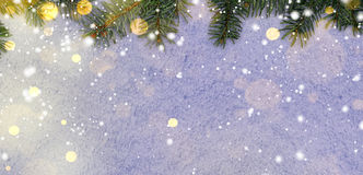 New year background on snow Stock Images