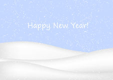 New Year background with snow Stock Photos