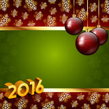 New Year background with snowflakes Stock Photos