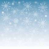New year background with snowflakes with symbols o Stock Image