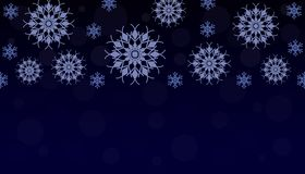 New Year. Background with snowflakes. Vector. New Year. Background with snowflakes. Abstract snowflakes on a dark blue background. Vector illustration royalty free illustration