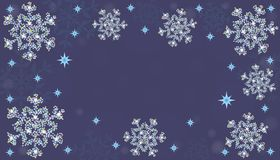 New Year. Background with snowflakes. Vector. New Year. Background with snowflakes. Abstract snowflakes on a pale blue background. Vector illustration royalty free illustration