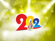 New year background with spotlight. Vector illustration Royalty Free Stock Photography