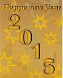 New year background with stars in metallic design Stock Photography