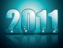 New Year Background with  stylized figures. Water style Stock Images
