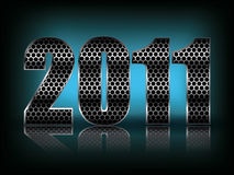New Year Background with  stylized figures Royalty Free Stock Photography
