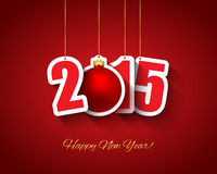 2015 New year background. With tags hanging Royalty Free Stock Photos