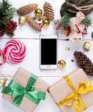 New year background top view Royalty Free Stock Images