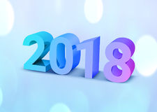 2018 New year background. Vector EPS10. 2018 New year background 3d text. Vector EPS10 Royalty Free Stock Image