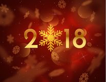 2018 New year background. Vector EPS10. Royalty Free Stock Photography
