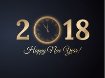 2018 New year background. Vector EPS10. Stock Photography
