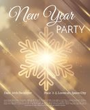 New year background. Vector EPS10. New Year party stylish golden text on black background flyer design. Vector EPS10 Stock Photo